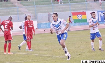 La acción del partido de ida que se jugó en Oruro en el cual venció San José 3-1 el 04/08/2019 /LA PATRIA /archivo