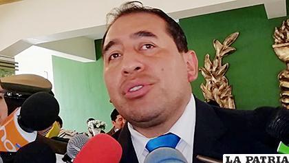 El viceministro de Seguridad Ciudadana, Wilson Santamaría /HOY BOLIVIA
