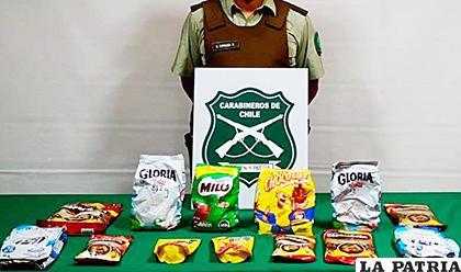 Las mujeres transportaban 8 kilos de cocaína al interior de envases de leche en polvo y cacao /Carabineros /Soy Iquique