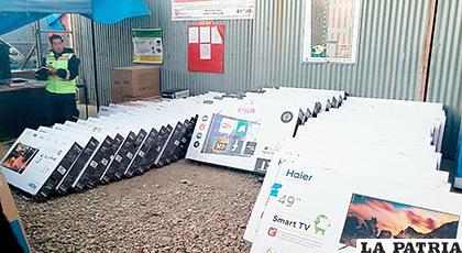 La intervención se hizo en un domicilio de la zona Los Pinos de Oruro /ADUANA