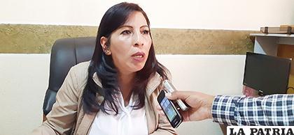Ejecutiva del magisterio urbano, Gardenia Cortez /LA PATRIA