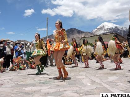 Durante el acto de reactivación turística que se realizó en Sajama /Gad-Oru