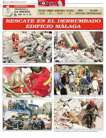 Rescate en el derrumbado edificio m laga for Guia telefonica malaga