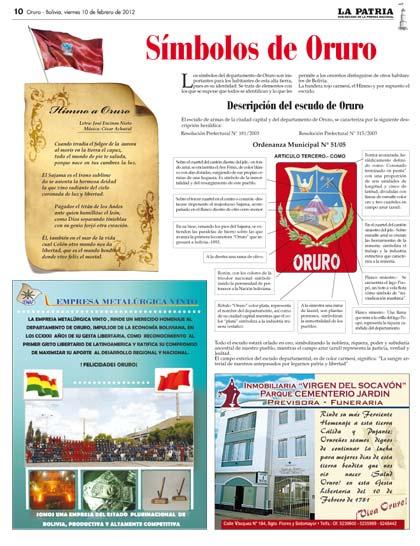 Símbolos de Oruro
