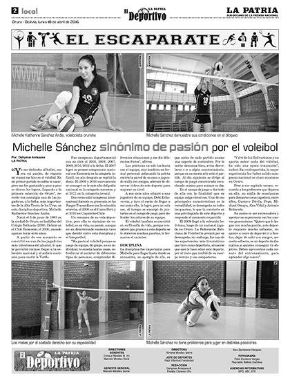 Michelle s nchez sin nimo de pasi n por el voleibol - Sinonimo de aprovechar ...